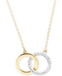 Wrapped Diamond Double Circle Pendant Necklace 1 6 Ct. T.W. In In 10K Gold Only At Macy's Yellow Gold