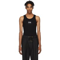 Versace Jeans Couture Black Logo Tank Top