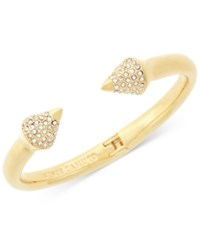 Vince Camuto Pave Arrow Hinged Cuff Bracelet Gold