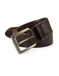 John Varvatos Smooth Leather Belt Brown