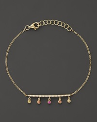 Bloomingdale's Mixed Sapphire And Diamond Bracelet In 14K Yellow Gold