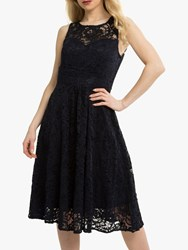 Jolie Moi Fit And Flare Lace Prom Dress Navy