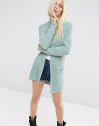 Asos Ultimate Chunky Cardigan Mint Green