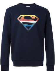 Iceberg Superman Sweatshirt Blue