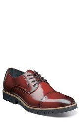 Stacy Adams Barcliff Cap Toe Derby Cranberry Leather