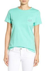 Vineyard Vines Women's Whale Graphic Short Sleeve Pocket Tee Antigua Green