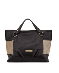 Catherine Catherine Malandrino Victoria Medium Faux Leather Tote Black