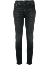 R 13 R13 High Waisted Skinny Jeans Black