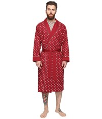 Original Penguin Woven French Terry Robe Biking Red Men's Robe