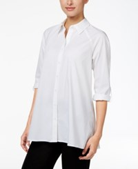 Styleandco. Style Co. Swing High Low Shirt Only At Macy's Bright White