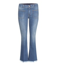 Stella Mccartney Distressed Flared Jeans Blue