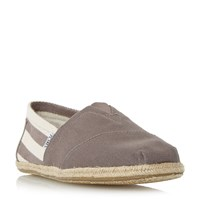 Toms University Slip On Casual Espadrilles Grey