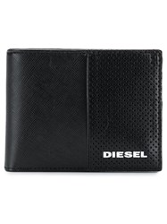 Diesel Textured Leather Compact Wallet Black