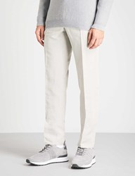 Slowear Slim Fit Tapered Linen And Cotton Blend Chinos Stone