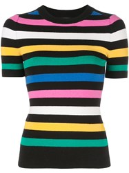 Joostricot Striped Knitted Top Black