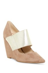 Nine West Vondra Pointed Toe Wedge Pump White