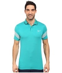 Nike Momentum Framing Commander Teal Charge Anthracite Reflective Silver Men's Short Sleeve Pullover Green