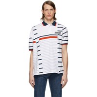 Martine Rose White Striped Polo