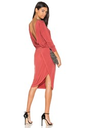Yfb Clothing Vamp Dress Rust