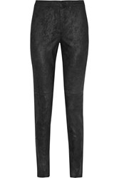 Theory Pittella Suede Skinny Pants Black