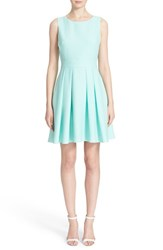 Women's Kate Spade New York Bow Back Crepe Fit And Flare Dress Mint Liqueur