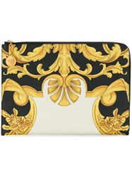 Versace Printed Pouch Clutch Black