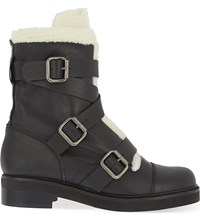 Carvela Snow Leather Boots Black