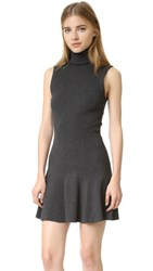 Alice Olivia Greta Turtleneck Dress Charcoal