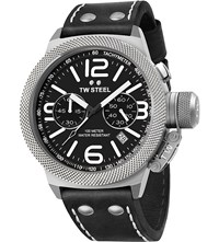 Tw Steel Cs3 Canteen Leather Chronograph Watch Steel