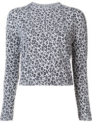 Giamba Animal Print Jumper White