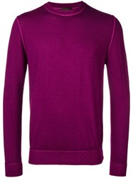 Altea Round Neck Sweater Pink And Purple
