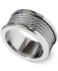 Charriol Unisex Silver Tone Cord Ring