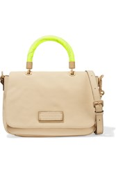 Marc By Marc Jacobs Textured Leather Shoulder Bag Nude