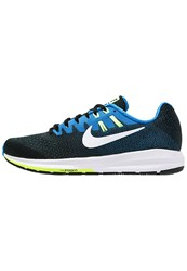 Nike Performance Air Zoom Structure 20 Stabilty Running Shoes Black White Photo Blue Ghost Green Light Blue