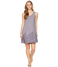 Mod O Doc Classic Jersey Embroidered Panel Tank Dress Steel Silver