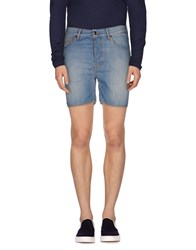 Just Cavalli Denim Denim Bermudas Men Blue