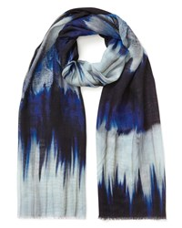 East Rupa Printed Scarf Blue
