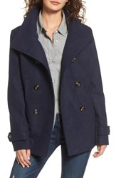 Thread And Supply Double Breasted Peacoat Navy