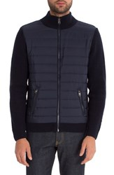 7 Diamonds Men's Tristan Mixed Media Jacket Navy