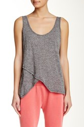 Steve Madden Sleeveless Wrap Tank Black