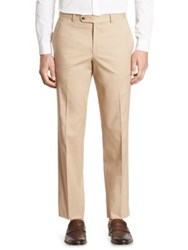 Saks Fifth Avenue Collection Cotton Chino Pants Taupe