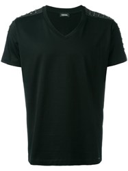 Diesel Studded Shoulder T Shirt Black