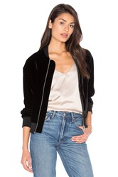 Frame Denim Le Velvet Bomber Jacket Black