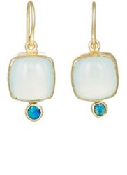 Judy Geib Women's Chalcedony And Opal Drop Earrings Colorless