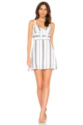 J.O.A. Tie Front Fit And Flare Dress White