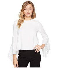 Catherine Malandrino Timber Blouse Empire White Women's Blouse