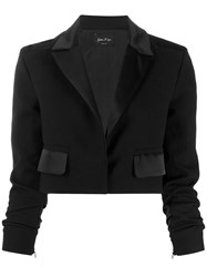 Andrea Ya'aqov Cropped Tailored Blazer Black