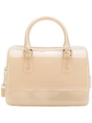 Furla Candy Sweetie Tote Women Pvc One Size Nude Neutrals