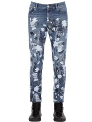 Versus Capsule Printed Stretch Cotton Denim Jeans