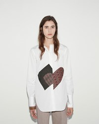 Ports 1961 Mao Collar Shirt Optic White
